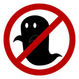 No ghost allowed sign. Create by vector Royalty Free Stock Images