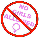 No girls allowed. With no symbol - vector Royalty Free Stock Photos