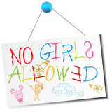 No Girls Allowed Sign Stock Images