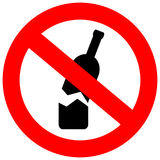 No glass or bottles allowed in this area royalty free illustration