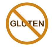 No gluten illustrated and colored. On white background Stock Photo