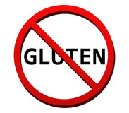 No gluten illustrated and colored. On white background Royalty Free Stock Photography