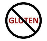 No gluten illustrated and colored. On white background Royalty Free Stock Photos