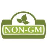 No-GM de la escritura de la etiqueta Imagenes de archivo
