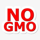 No GMO Red Sign Stock Images