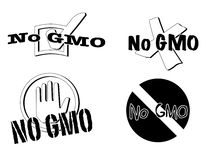 No gmo symbols Royalty Free Stock Photos