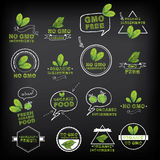No gmo, vector icon set. Stock Photography