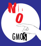No GMOs Concept Design Royalty Free Stock Images