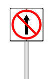 No go ahead the way ,No forward sign Stock Images