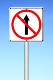 No go ahead the way ,No forward sign Stock Photos