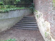 No go area, no way!. No go area: stairs and a path leading to no way Royalty Free Stock Photo