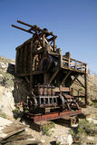 No Gold, Just Wood. An old, abandoned gold mine in the desert Royalty Free Stock Photo