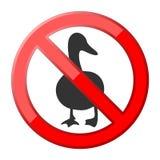 No goose traffic sign Stock Photo