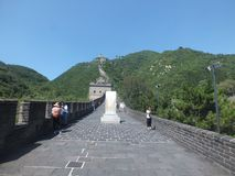 No Grande Muralha de China Imagens de Stock