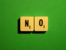 No. On green background says no gambling chips Stock Photography