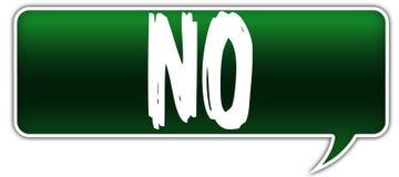 NO on green dialogue word balloon. Illustration vector illustration