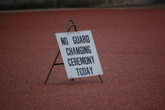 No guard changing ceremony today Royalty Free Stock Photos