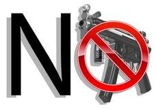 No gun sign concept. vector illustration Royalty Free Stock Photo