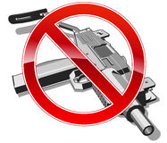 No gun sign Royalty Free Stock Images