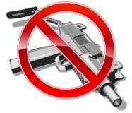 No gun sign Royalty Free Stock Images