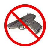 No Guns. On a white Background Royalty Free Stock Image