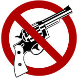 No Guns. Symbol with red international no symbol royalty free illustration