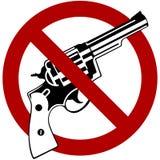 No Guns. Symbol with red international no symbol Royalty Free Stock Images