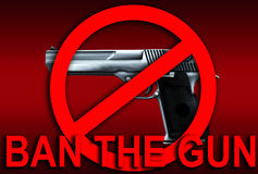 No Guns. An image of a weapon, in this case a gun, this image can be used for anti gun concepts Stock Photography