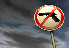 No guns Royalty Free Stock Image