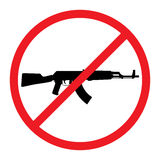No Guns Allowed Sign. Stock Photo