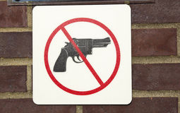 No guns permitted royalty free stock images
