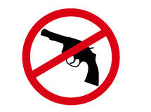 No Guns Sign Royalty Free Stock Photos