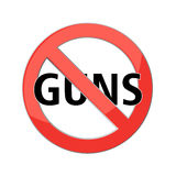 No guns sign Royalty Free Stock Photography