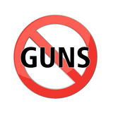 No guns sign Royalty Free Stock Images
