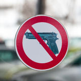 No guns sign Stock Images