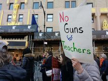 No Guns for Teachers, March for Our Lives, Protest, NYC, NY, USA Stock Images