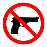 No guns, no weapons, prohibition sign on white background. Illustration No guns, no weapons, prohibition sign on white background stock illustration