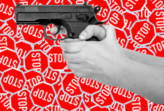 No Guns, Weapons Sign. No Guns, Weapons Sign as background Stock Images