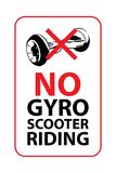 No gyroscooter riding sign. Vector illustration. Stock Photo