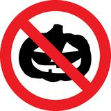 No halloween celebrations sign. No halloween celebrations allowed sign Royalty Free Stock Photos