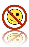 No happy people symbol royalty free stock photo