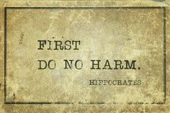 No Harm Hippocrates Royalty Free Stock Photos