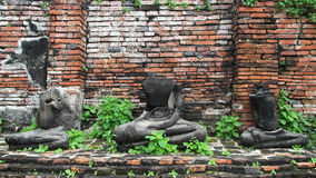 No head buddha statues in ancient temple of Ayutthaya Stock Photos