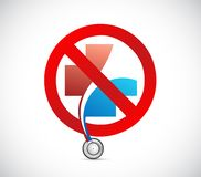 No health system concept. illustration design. Isolated over white Royalty Free Stock Photos