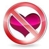 No heart sign Stock Photos