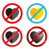 No heart Sign Royalty Free Stock Images