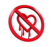 No Heartbleed Sign Stock Photos