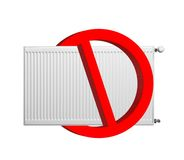 No heating sign Stock Images