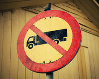No heavy goods vehicles. Vintage stylized photo Royalty Free Stock Images