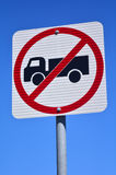 No heavy vehicles traffic sign Stock Photography